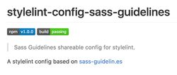 stylelint-config-sass-guidelines